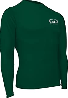 product image for HT-603L-CB Men's and Women's Athletic Compression, Long Sleeve Crew Neck Shirt-Used for Running, Softball, Football, Cross Training, and Gym Workouts (Medium, Forest Green)
