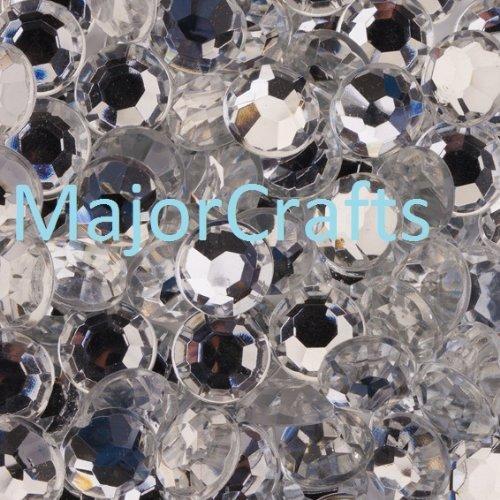 Crystal Clear Silver Flat Back Acrylic Rhinestones Gems Diamante 5mm for Craft