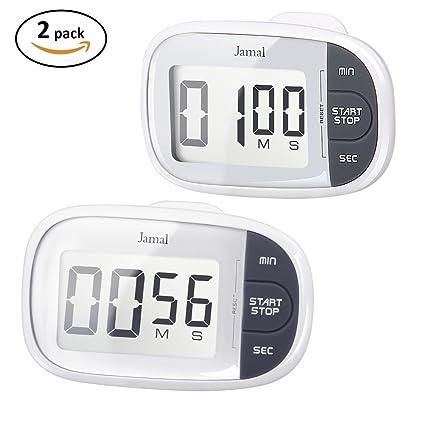 amazon com jamal digital timer 2 packs timer for kids kitchen timer