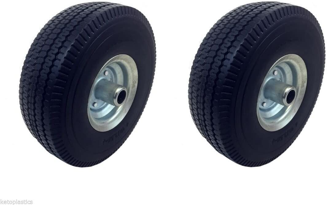 """PACK OF 2-10/"""" PNEUMATIC WITH 35 MM BORE Sack Truck Trolley Wheel 4.10-4"""