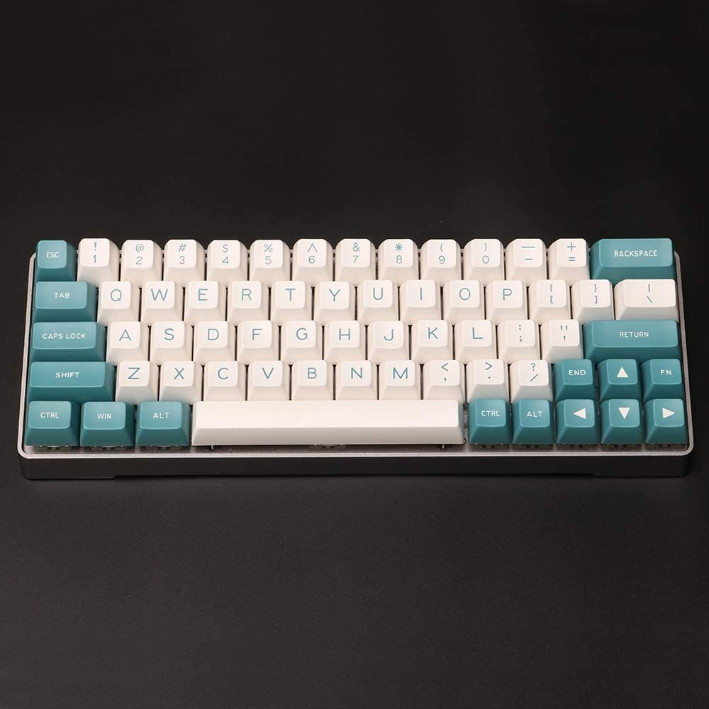 LANGYINH 134 Keys Keycaps,Mechanical Keyboard Keycap,ABS Material Green//White Suitable for Most Cross-Axis Keyboards