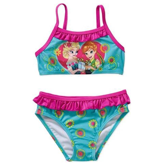 1537468d3a Amazon.com: Disney Frozen Elsa & Anna Girls 2-Piece Swim Suit (2T ...