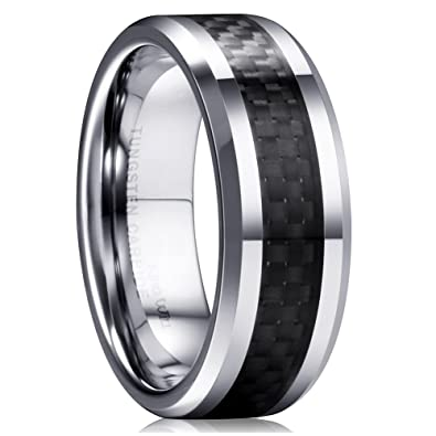 King Will GENTLEMAN 8mm Black Carbon Fiber Tungsten Carbide