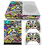 FriendlyTomato Xbox One S Console, Controller and Kinect Skin Set – Collage Design – XboxOne Vinyl For Sale