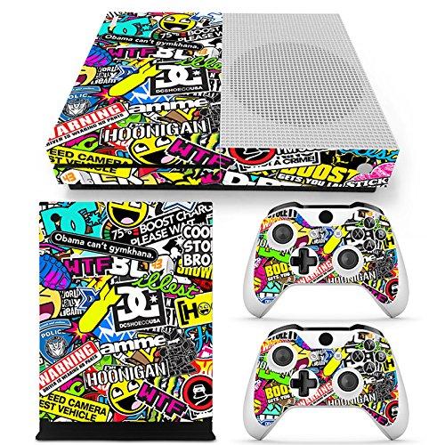 FriendlyTomato Xbox One S Console, Controller and Kinect Skin Set - Collage Design - XboxOne Vinyl