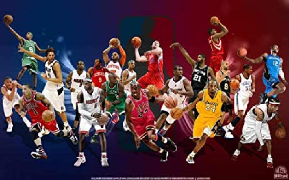 GIRDSSA Niños Familia Adultos Rompecabezas De 1000 Piezas Regalo Vacaciones Juguetes Bricolaje Regalo Personalizado Juegos Educativos, Desafío Mental/Nba Celebrity Basketball