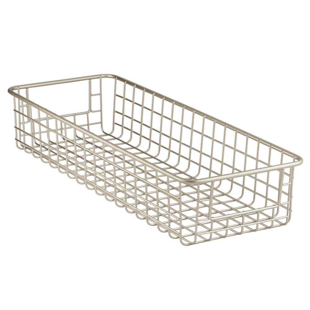 Amazon.com: InterDesign Classico Kitchen Pantry Freezer Wire Basket  Organizer, Deep, Satin: Home U0026 Kitchen