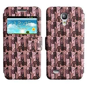 LEOCASE simpático personaje Funda Carcasa Cuero Tapa Case Para Samsung Galaxy S4 Mini I9190 No.1006364