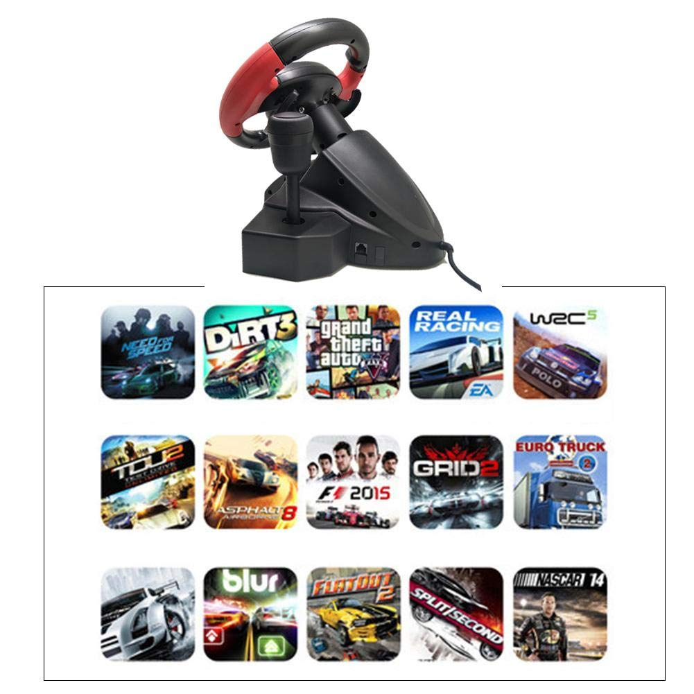 TODAYTOP for FT33 Series 200° Rotation Angle Game Steering Wheel Racing Wheel Dual Motor Vibration for PS 3/PS 2/PC (D-Input/X-Input/Steam by TODAYTOP (Image #2)