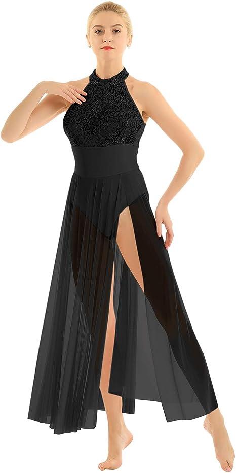 Women/'s Leotard Ballet Ballroom Leotard Tutu Dress Modern Dancewear Maxi Skirts