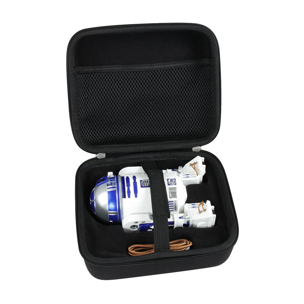 Hermitshell Hard EVA Travel Black Case Fits Sphero Star Wars R2-D2 App-Enabled Droid by Hermitshell (Image #1)