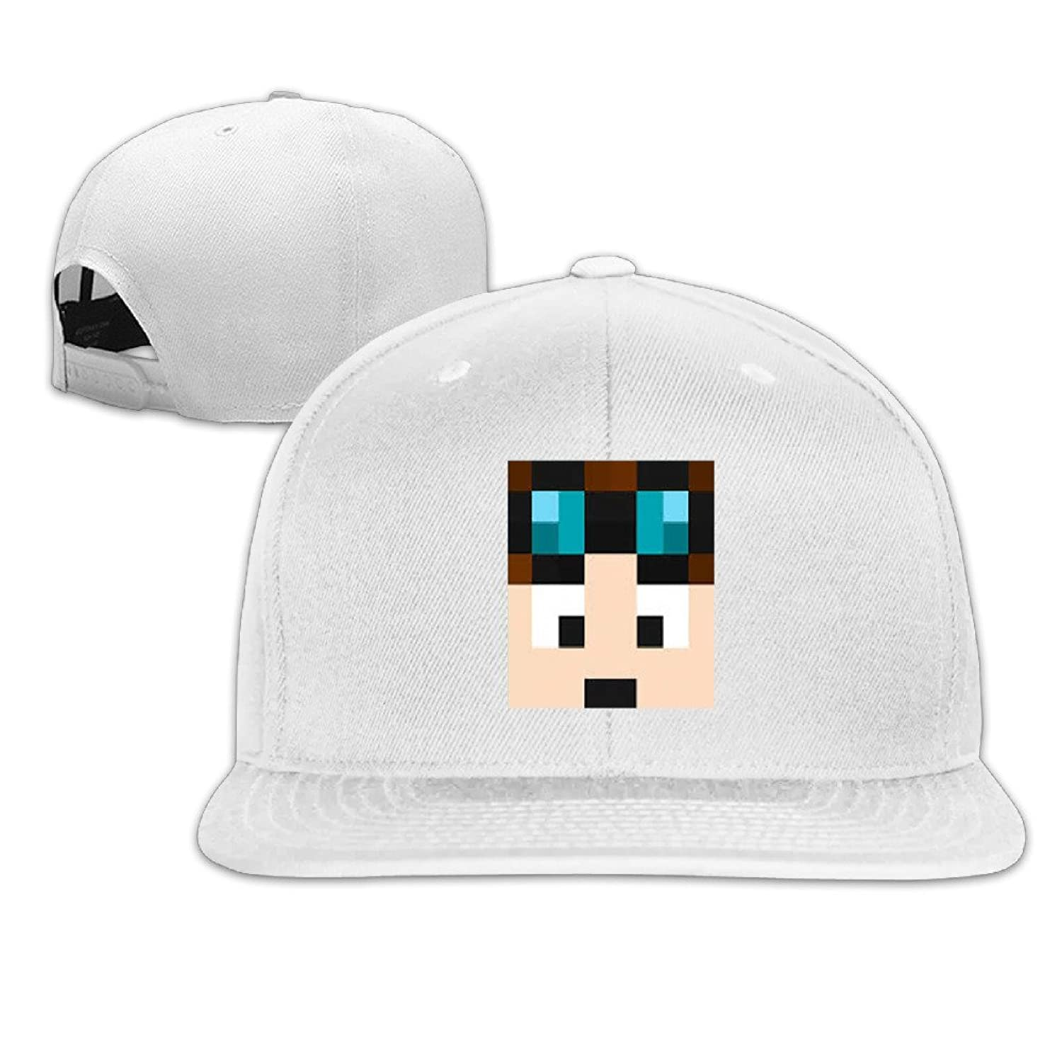 MYDT1 The Diamond Minecart DanTDM Flat Baseball Caps Hats For Unisex