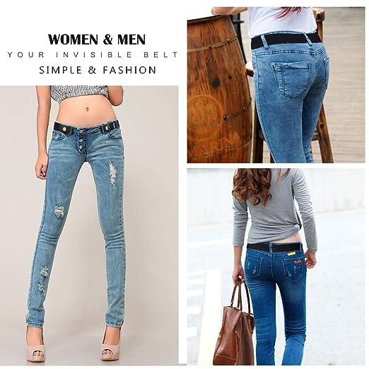 Femmes Hommes Ceinture Sans Boucle Ceinture Élastique Confortable Jeans  Pantalons Ceintures De Taille Invisible Réglable (Bleu)  Amazon.fr   Vêtements et ... 24dd0f206a8