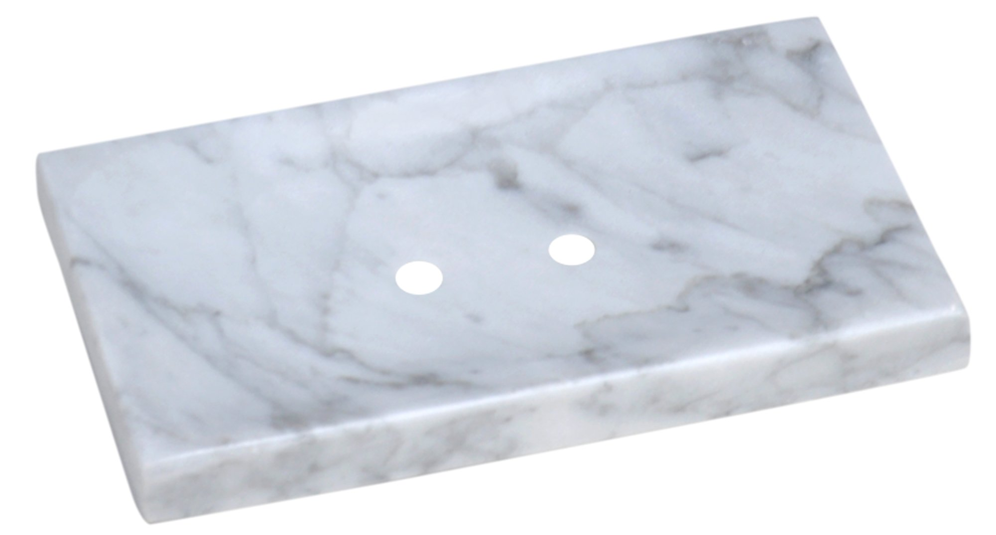 CraftsOfEgypt White Marble Soap Dish - Polished and Shiny Marble Dish Holder Beautifully Crafted Bathroom Accessory by CraftsOfEgypt