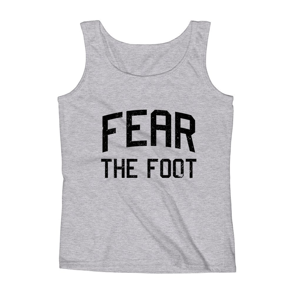 Mad Over Shirts Fear The Foot Unisex Premium Tank Top