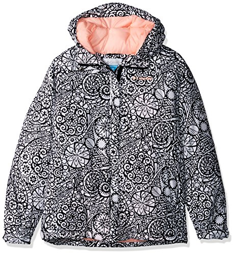 Columbia Girls' Big' Horizon Ride Jacket, Black Mod Lace, X-Large (Ride Women Snowboard Jacket)