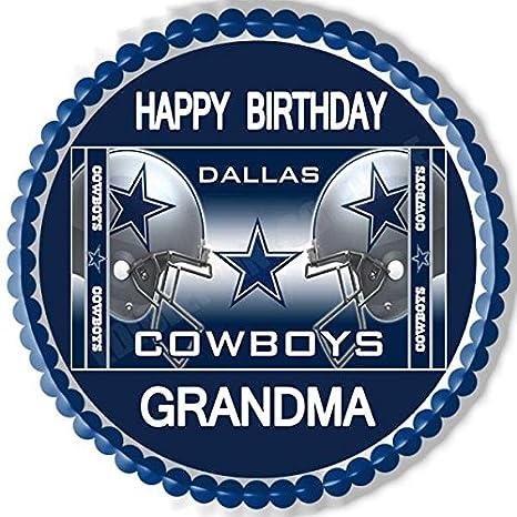 Astounding 3 Dallas Cowboys Edible Birthday Cake Topper Cupcake Topper Cake Personalised Birthday Cards Paralily Jamesorg