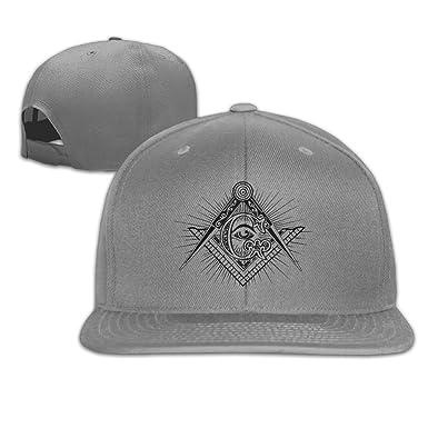 d8e9b5278c575 Amazon.com  Masonic Square   Compasses Symbol Trucker Hats Hip Hop  Snapbacks  Clothing