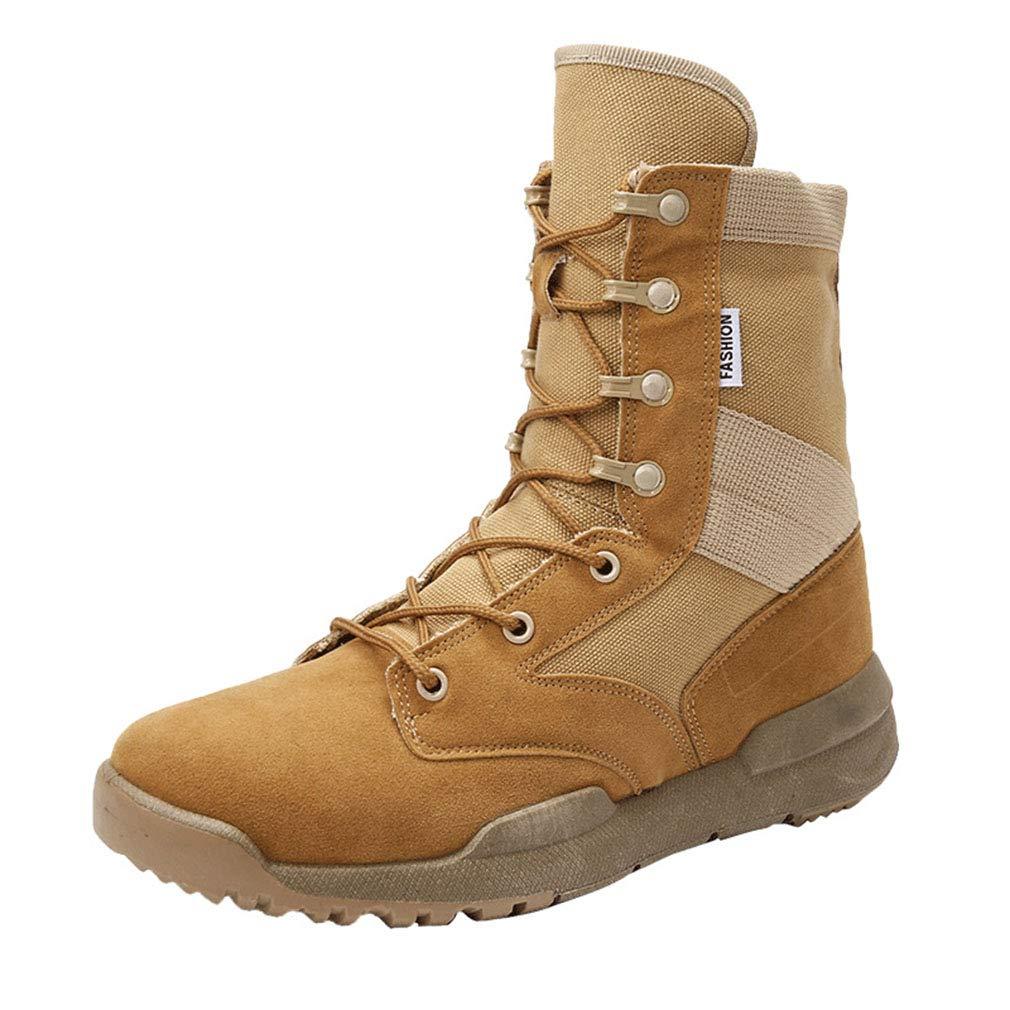 Gfphfm Men ' S Stiefel, Stiefel, Stiefel, Combat Military Stiefel Wild Long Stiefel Fall Winter Top Outdoor Martin Stiefel,B,43 d2de6b