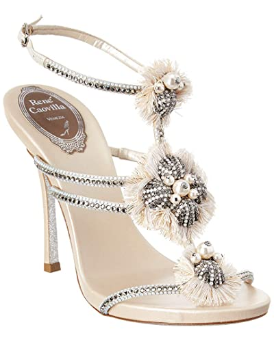 56f5d3f0cb3 Image Unavailable. Image not available for. Color  Rene Caovilla Embellished  Triple Strap Sandal