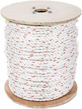 Arborist Twisted 3 Strand Line with Polyolefin Core Commercial 50 feet DIY Moisture Abrasion /& Weather Resistant 1//2 inch Chemical UV SGT KNOTS Poly Dacron Rope Marine