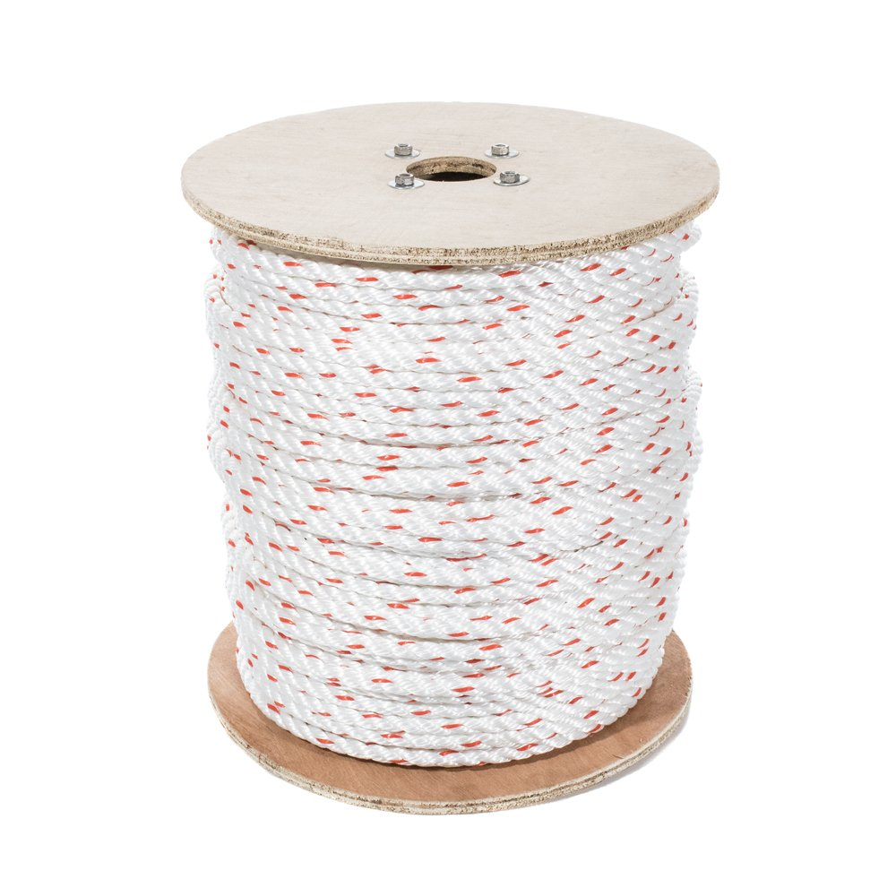 Marine 50 Feet Resistant to UV Moisture GOLBERG G Chemical Twisted 3 Strand Line with Polyolefin Core Poly Dacron Rope DIY Projects Abrasion Commercial and Weather Conditions Arborist 5//8 Inch