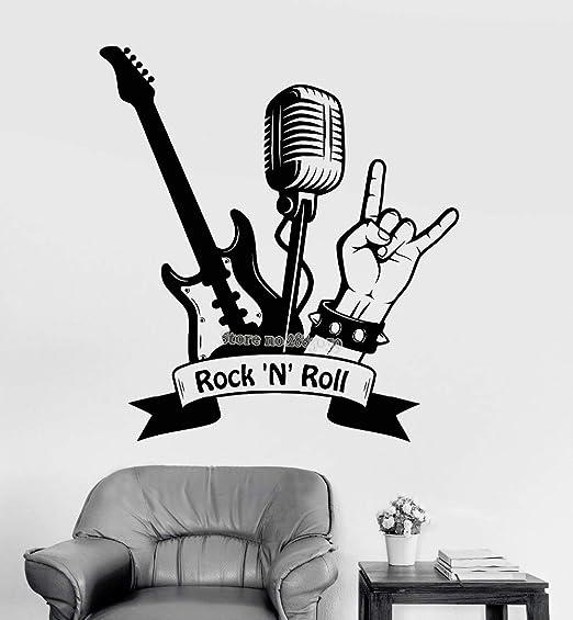 Baobaoshop Arte Tatuajes de Pared Cita RocknRoll Guitarra ...