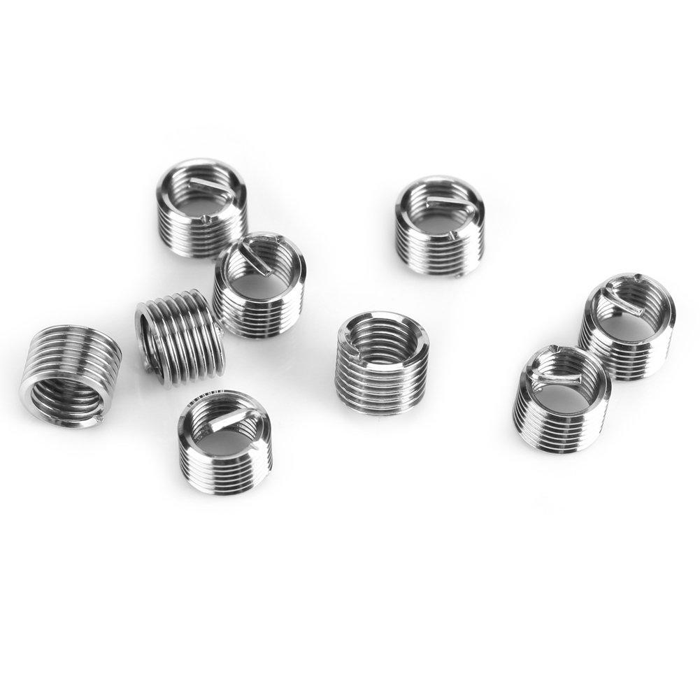 30 Piece M5//M6//M8 Plated Carbon Steel Rivet Nut,Stainless Steel Wire Thread Repair Insert Assortment,Threaded Insert Nuts Assortment Tool Kit /for Auto Repairing M5