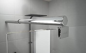 Barra de sujeción para mampara de ducha redonda estabilizador de acero inoxidable ajustable 600-1400 mm grosor de cristal 6-10 mm GS21: Amazon.es: Bricolaje y herramientas