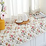 GX&XD Thicken Printing Bay Window Cushion,Rural Window Sill Mat Non-Slip Bedroom Matt Mat Balcony Mat Cover Sofa Slipcovers Floor Mat Pad-C 60x150cm(24x59inch)