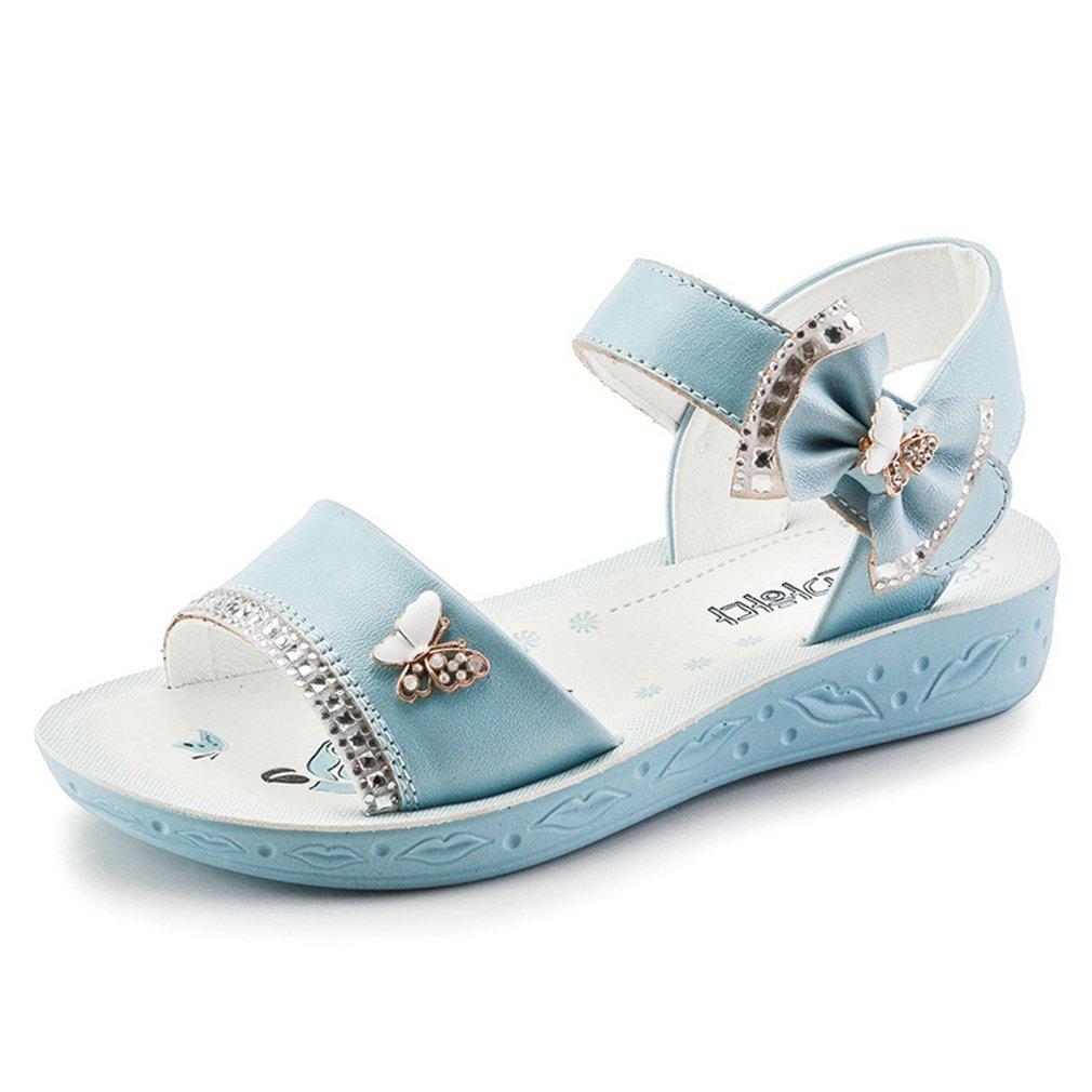 Toddler//Little Kid//Big Kid CYBLING Flower Girl Sandals Glitter Summer Open Toe Princess Flat Shoes