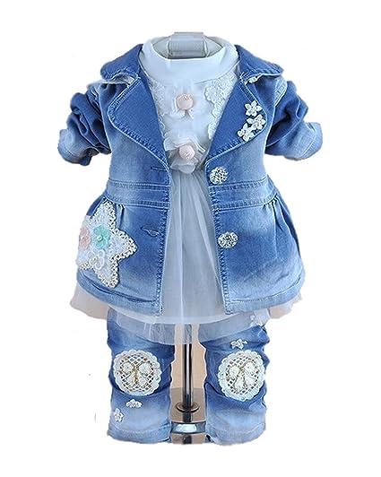 ca9b8e6eb Amazon.com  SOPO Baby Girls Outfits Long Sleeve Striped Coat