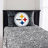 The Northwest Company NFL Pittsburgh Steelers Anthem Twin Sheet Set