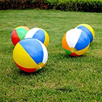 aXXcssqw9b23cm Colorful Inflatable Beach Ball Swimming Pool Holiday Game Summer Kids Toy