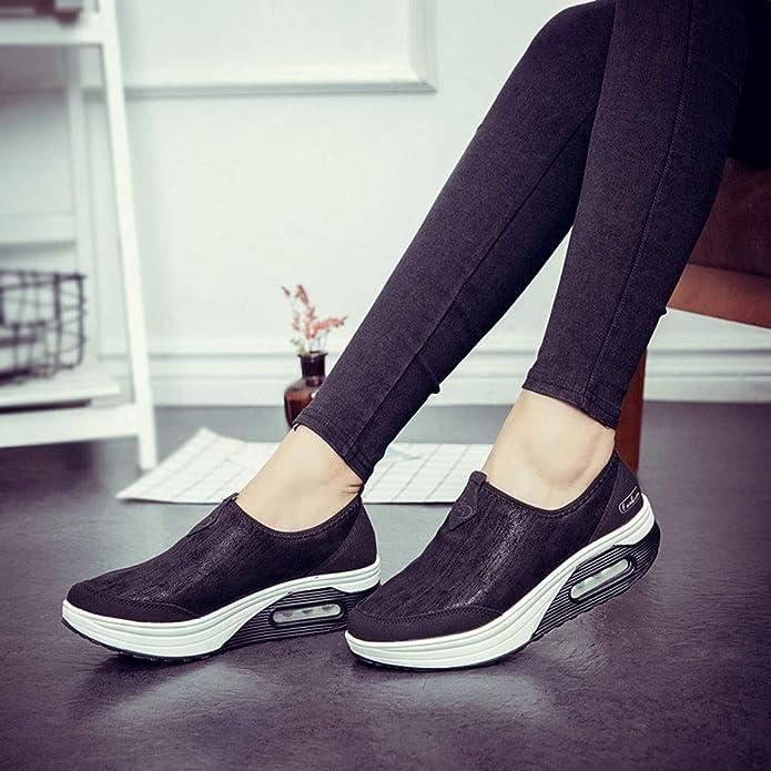 Amazon.com   FORUU Fashion Womens Platform Slip On for Ladies Shoes Casual Flats Moccasins   Shoes