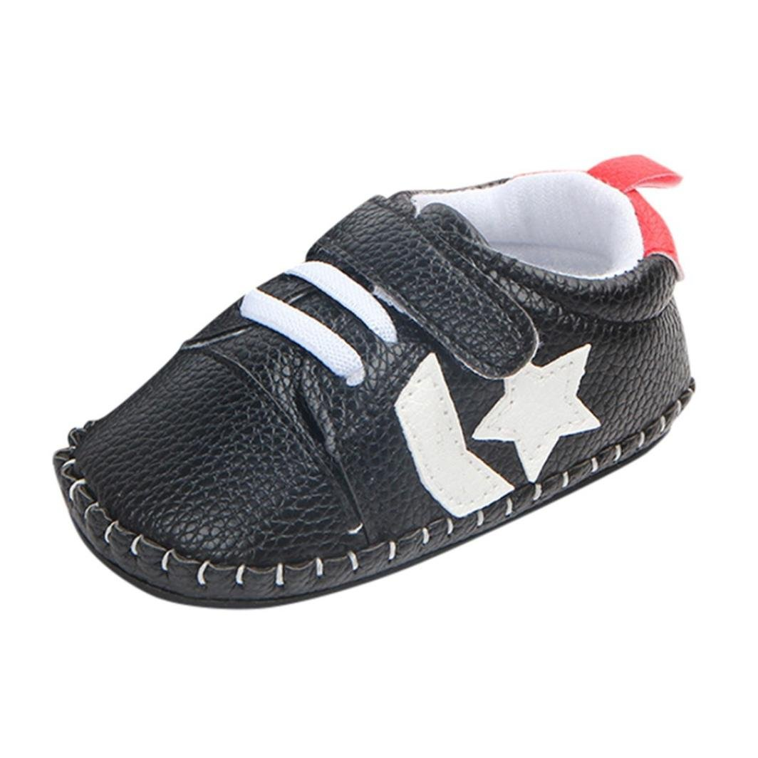 2018 Fashion Toddler Baby Boys Girls Star Print Cartoon Anti-Slip Soft Sole Prewalker Casual Shoes