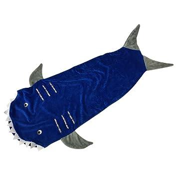 TOPUNER mantita Tails Tiburón Manta Super Suave Minky Tiburón Saco de Dormir para Niños: Amazon.es: Hogar