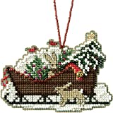"""Woodland Sleigh Counted Cross Stitch Kit-3.5""""X2.5"""" 14 Count"""
