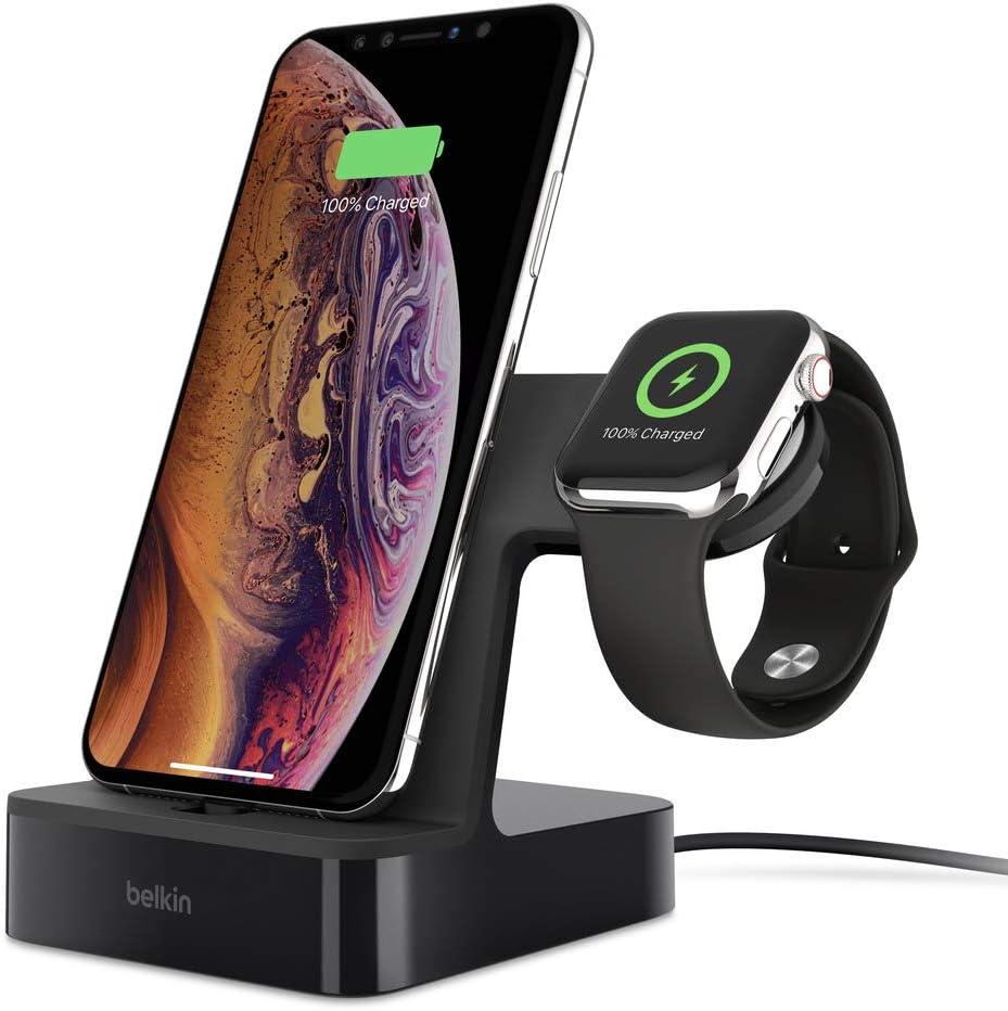 Belkin Powerhouse Station de Charge pour Apple Watch + Station de Chargement pour iPhone Noir