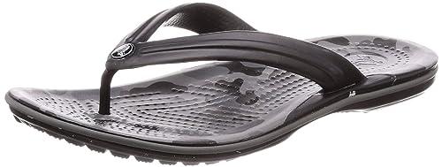 e98ed0ac1 crocs Unisex s Crocband Seasonal Graphic Flip Grey Flops Thong  Sandals-M10W12 (205584-0DY