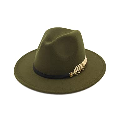 da5b2a9e0008b DOSOMI Fedora Hats for Women Men Special Felt Belt Vintage Trilby Caps Wool  Warm Jazz Panaman