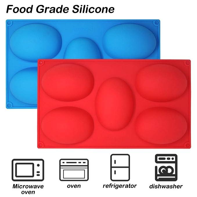 molde para hornear tartas molde para galletas de chocolate bandeja para cubitos de hielo por Amison 2 unidades Molde de silicona para jab/ón de 6 cavidades