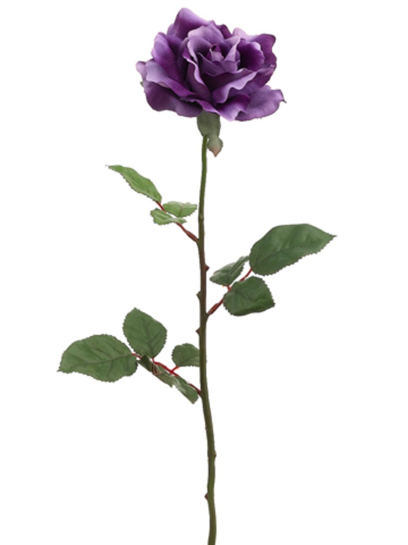 Amazon Allstate 28 Artificial Large Single Purple Rose Silk