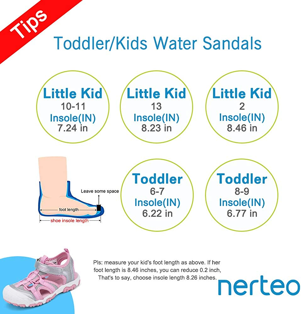 nerteo Kids Boys Girls Sandals Toddler Water Shoes