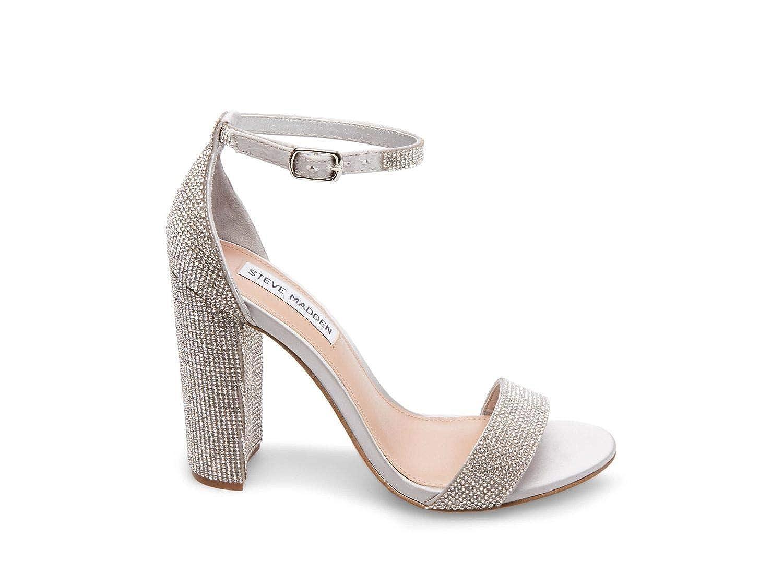 Kristall Steve Madden Damen Damen Carrson-r Sandalen mit Absatz, schwarz  100% authentisch