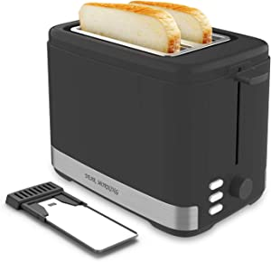 Toaster 2 Slice best rated prime Evenly And Quickly Black Bagel Toaster With 2 Wide Slots 7 Shade Settings and Removable Crumb Tray for Bread Waffles