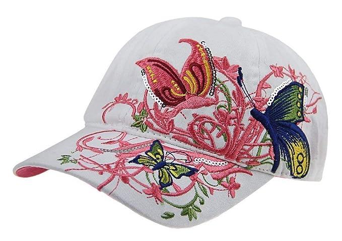 Novedad Gorra De Béisbol Chica Hombres Sombrero Niños Gafas Modernas Casual De Sol con Flor Bordado