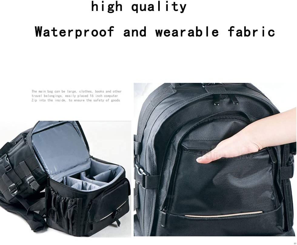 Flash Light Radio Releases and Other Accessories LOTONJT Camera Case Waterproof Shockproof Adjustable Padded Camera Backpack Large Capacity Bag Anti-Theft for SLR DSLR Mirrorless Cameras and Lenses