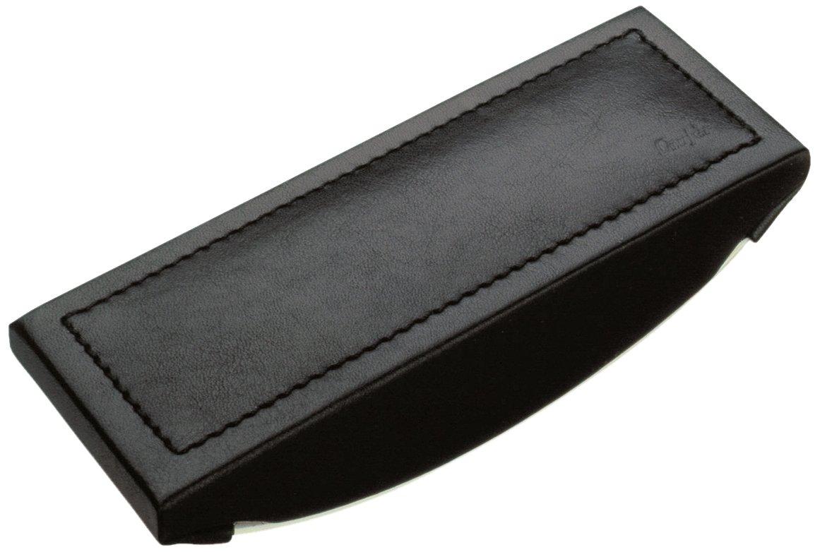 Lä ufer Ambiente Monza - Tampone asciuga inchiostro in vera pelle, 16, 5 x 7 x 2, 5 cm, colore: Nero Läufer 32146
