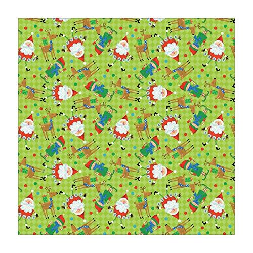 Santa and Elf Bandana - Single Piece - 22x22